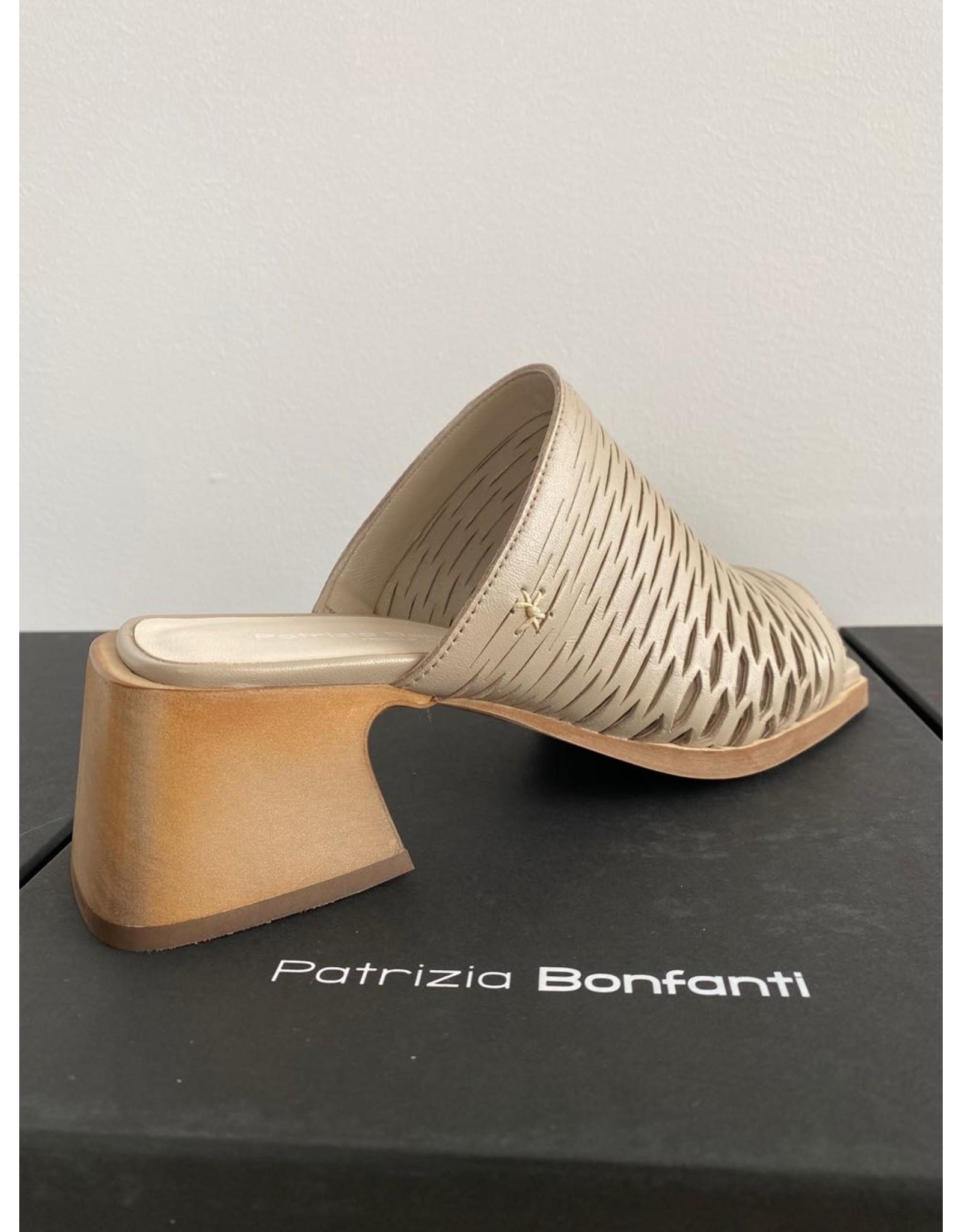 Patrizia Bonfanti Peep Toe Architectural Heel Sandal