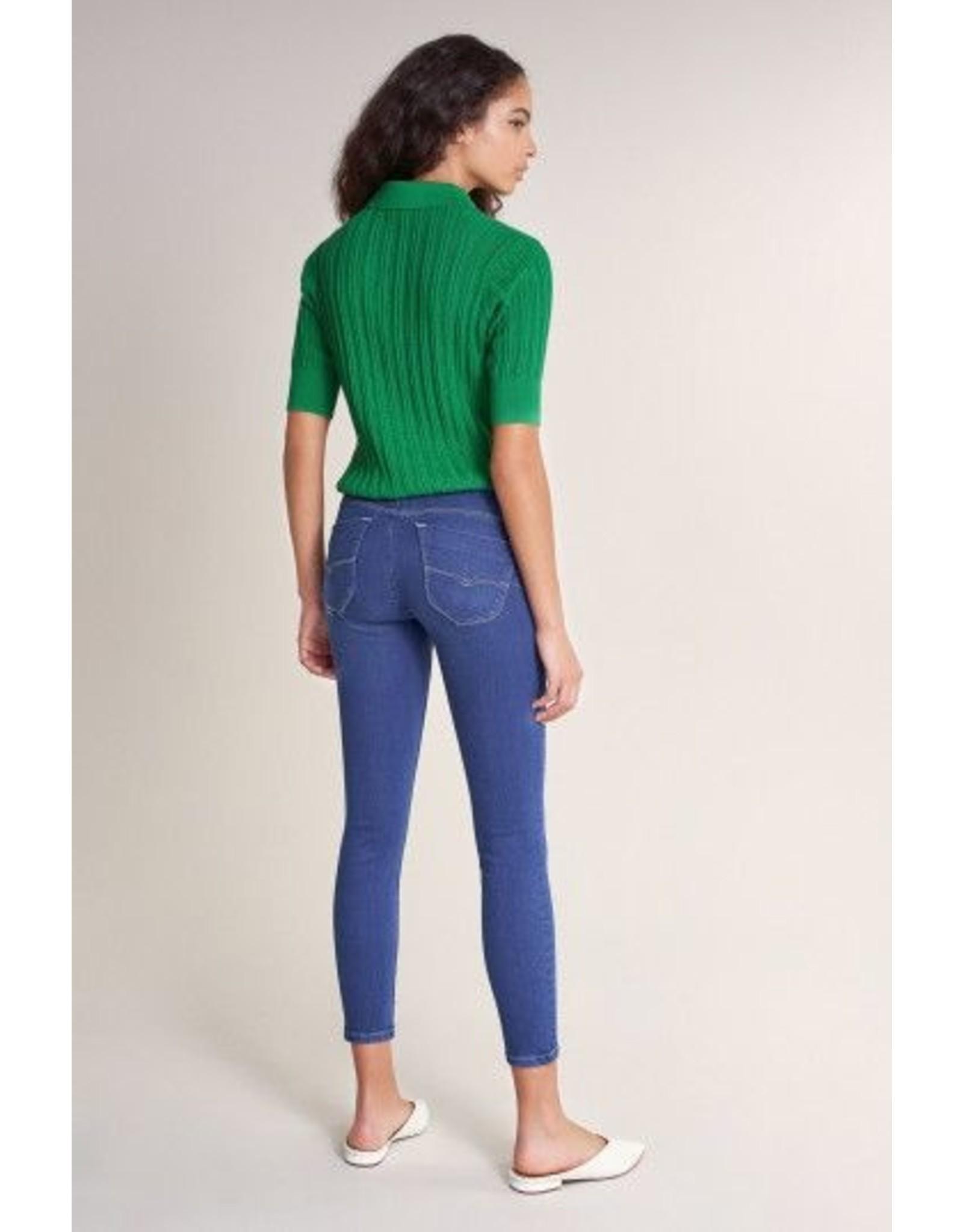 Salsa Jeans Push In Secret Capri Bright Blue Jeans