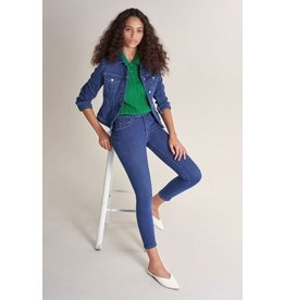 Salsa Jeans Push In Secret Capri Bright Blue Jeans