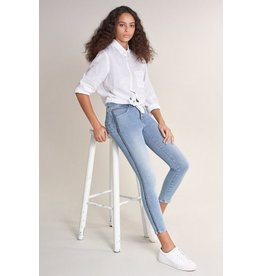 Salsa Jeans Push In Secret Capri Jeans With Side Strip