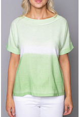 Peruzzi Tie Dye Effect Short Sleeve Top