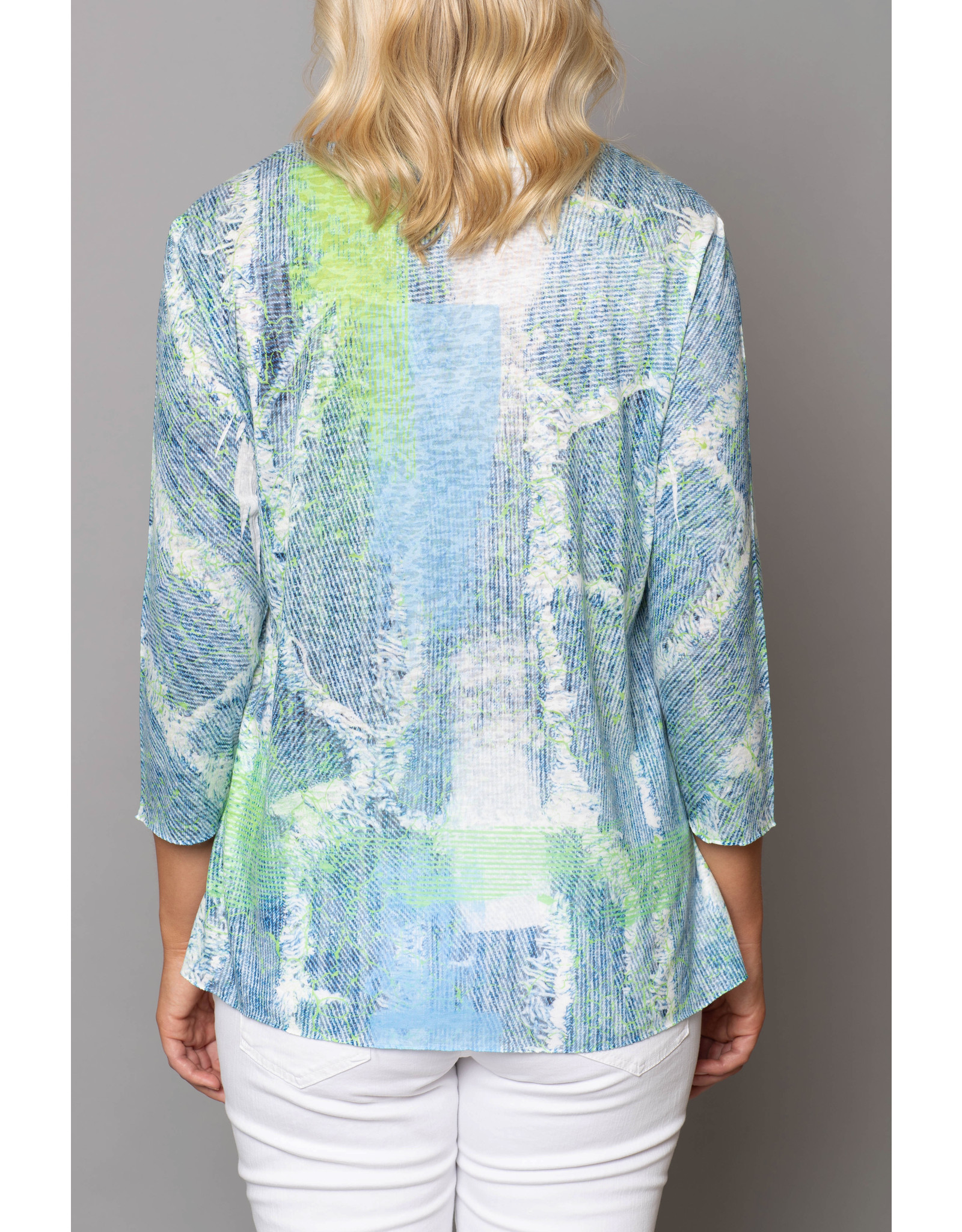 Peruzzi  Abstract Print Long Sleeve Top