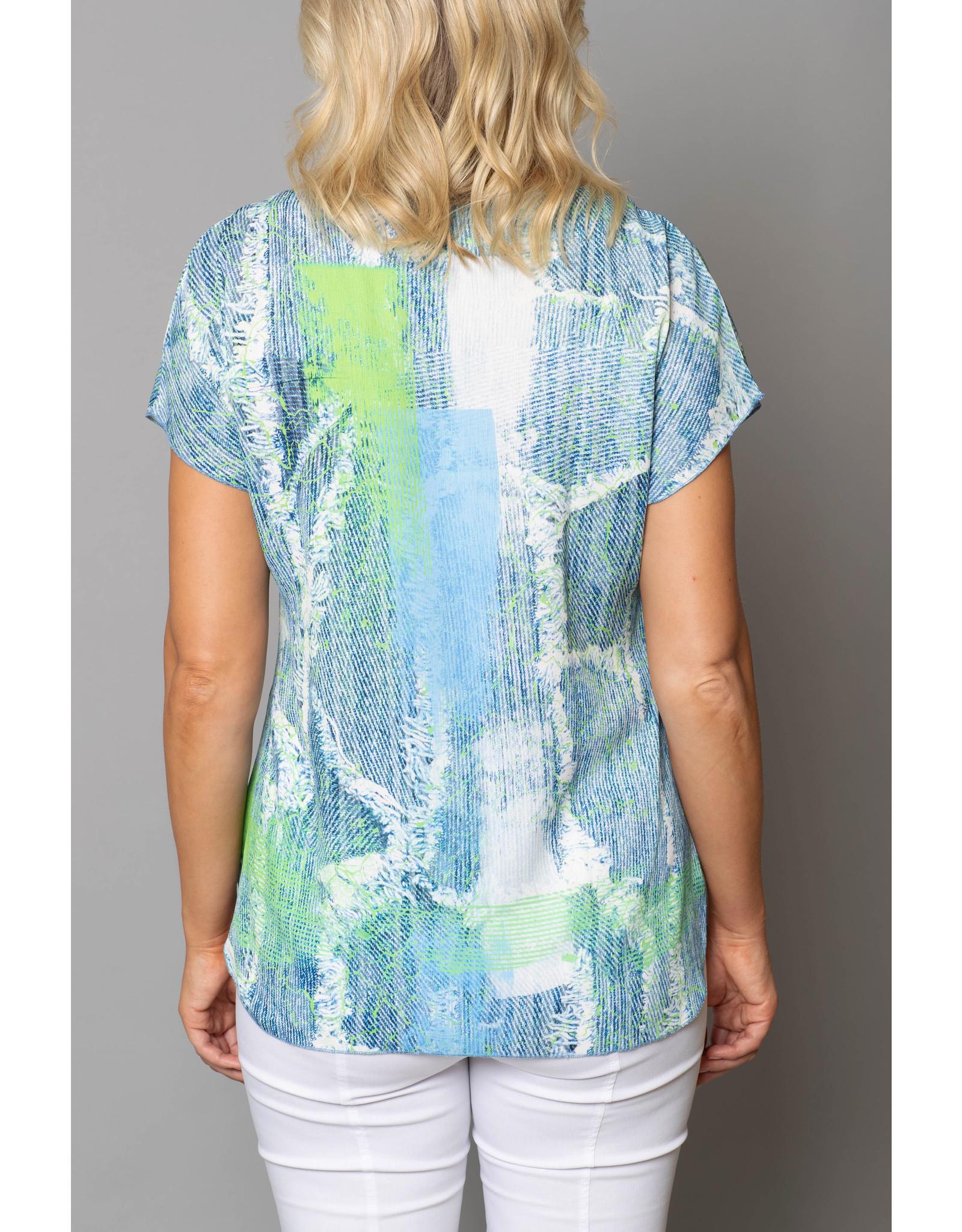 Peruzzi  Abstract  short sleeve Print Top