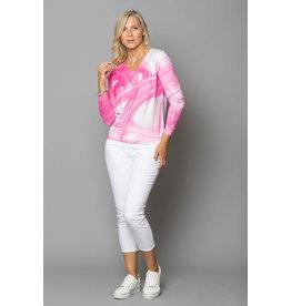 Peruzzi Pink Brushstroke Knit