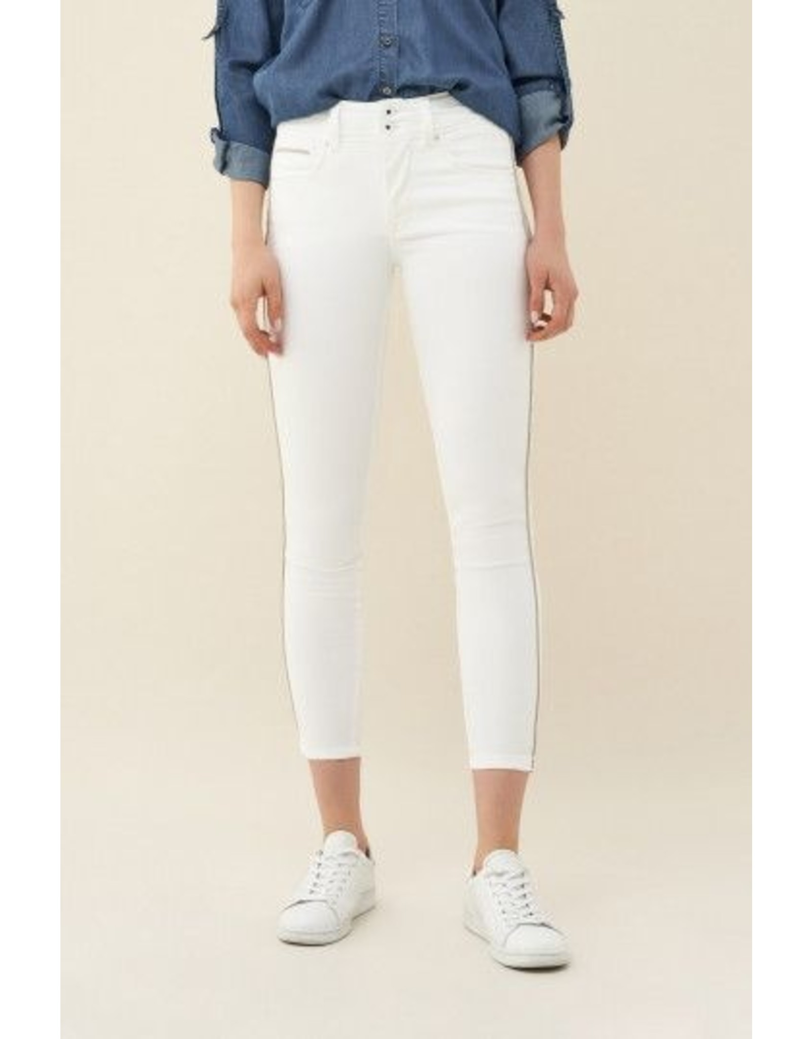 Salsa Jeans Push In Secret Capri Jeans With Detail On Side