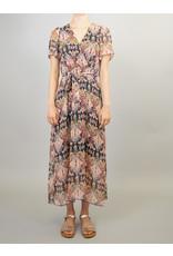 La Fee Maraboutee Boho Print Short Sleeve Long Dress