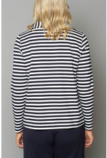 Peruzzi Compact Jersey Stripe Top