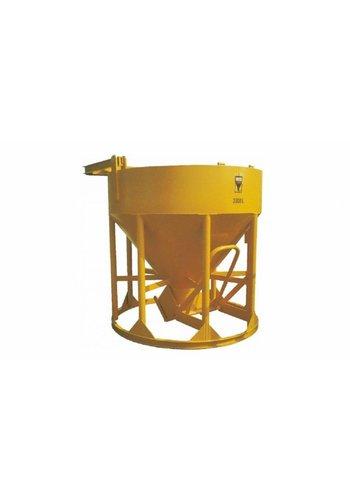 Beco Betonstortkubel 350 L staand / onderlossing