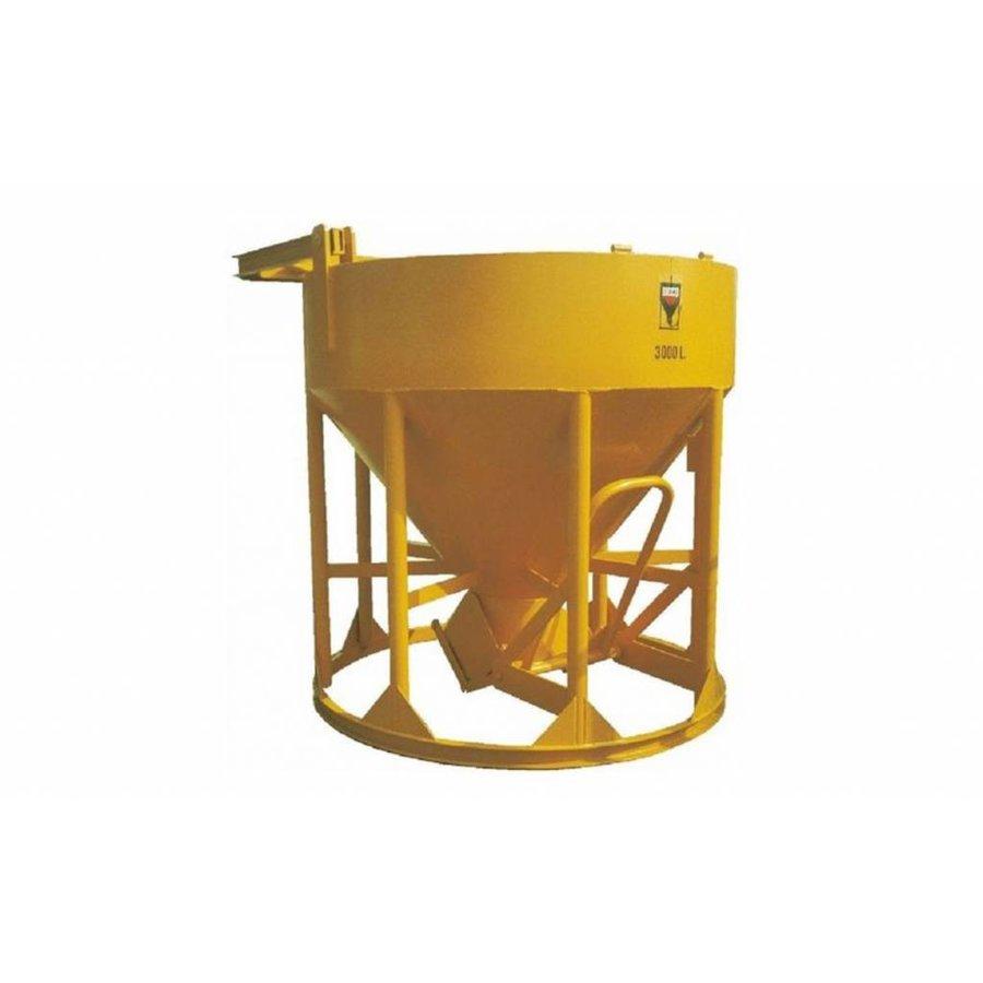 Betonstortkubel 350 L staand / onderlossing