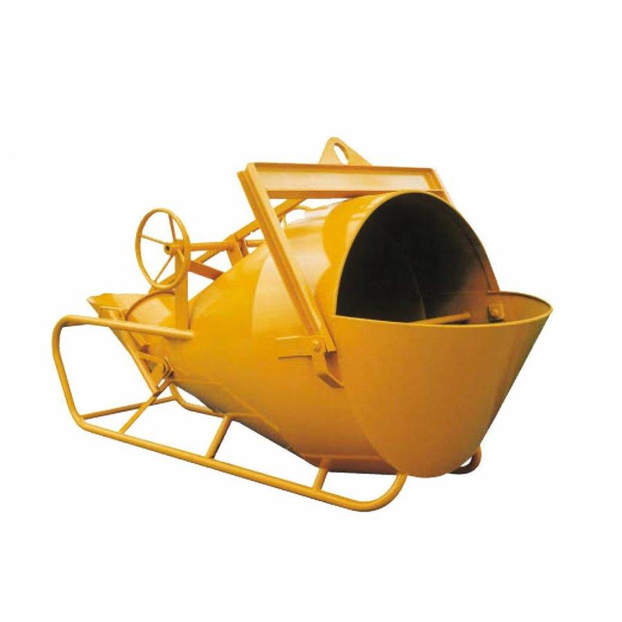 Cuve à béton Commande avec roues