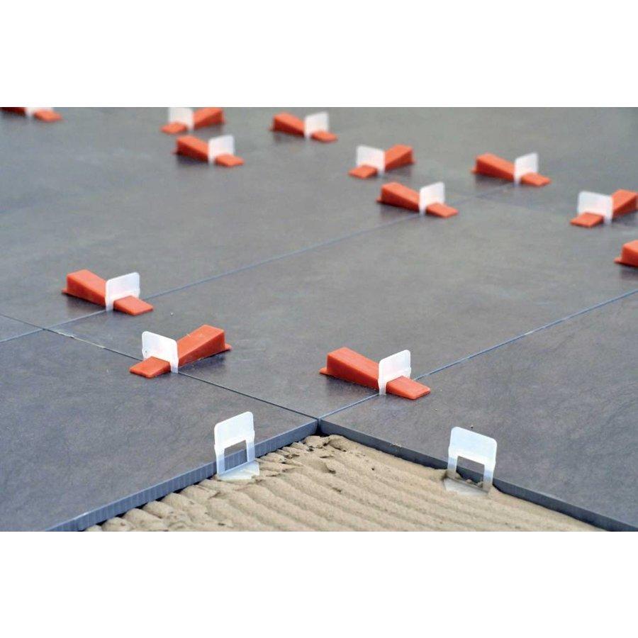 250 bases pour carreaux pour système autonivelant