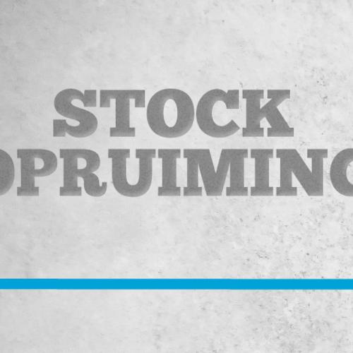 Stockopruiming