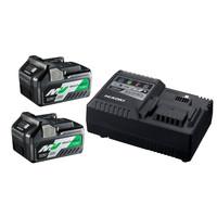 Set - Multi Volt Haakse slijper, 2 batterijen & snellader