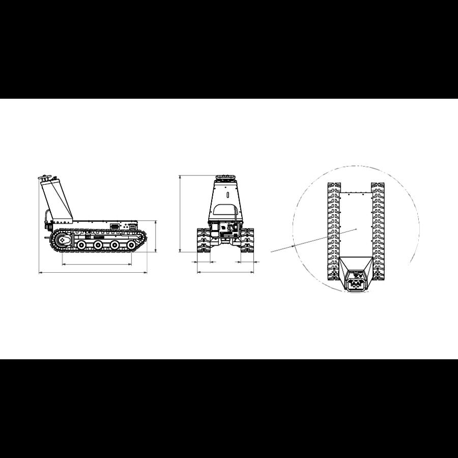Brouette électrique sur chenilles DCT300P - accu