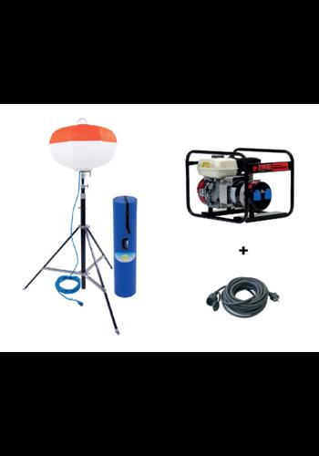 ABM Promopakket: LED-Ballonverlichting SL 2000 + stroomgroep EP3300 + verlengkabel 25m