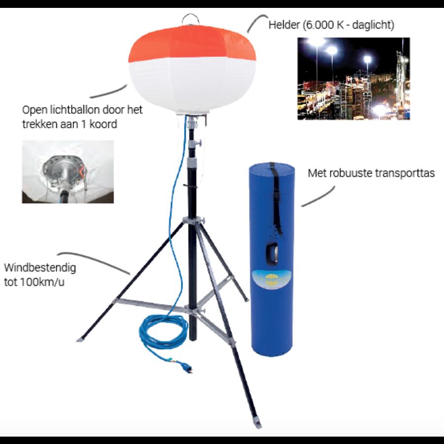 Promopakket: LED-Ballonverlichting SL 2000 + stroomgroep EP3300 + verlengkabel 25m