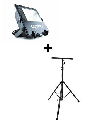 LumX Set: Lampe de chantier HQI - MH-400 + statif