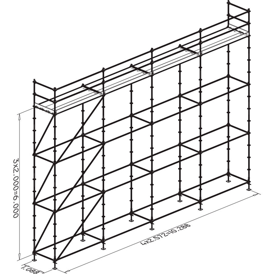 Ensemble échafaudage 1 - Basic - maçon