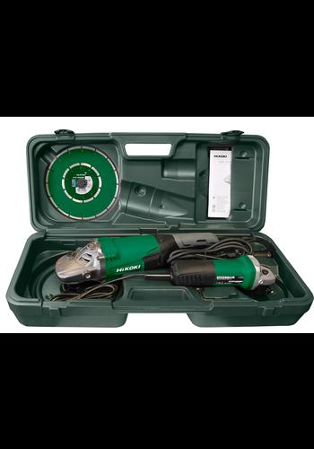 Hikoki Set: haakse slijpers - 125 mm & 230 mm