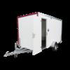 ABM Roulotte de chantier - type 5 - 3,60 x 1,90 x 2,10m - avec banquettes, toilette et fenêtre os