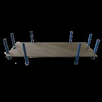 Opslagbox voor rijplaten 2 m x 1 meter