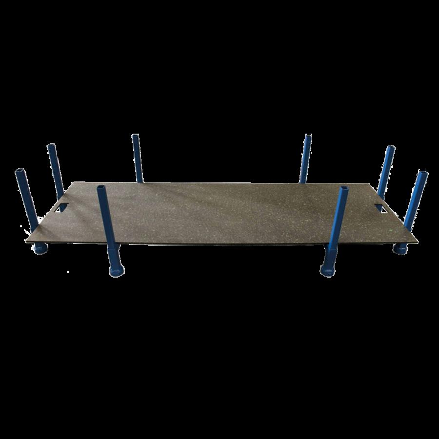 Opslagbox voor rijplaten 3 m x 1 meter