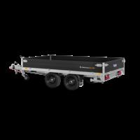 Plateau aanhangwagen met hoogrek - L 4,06 m - 2849 kg laadvermogen