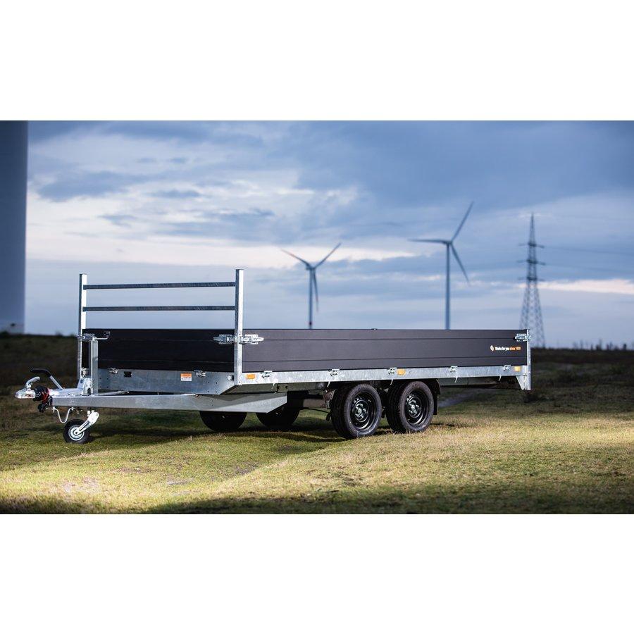 Plate-forme de remorque avec porte échelle - L 4,06 m - 2849 kg de charge utile