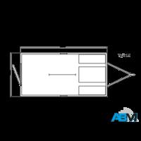 Roulotte de chantier - type 1.1 - 3,60 x 1,90 x 2,10m