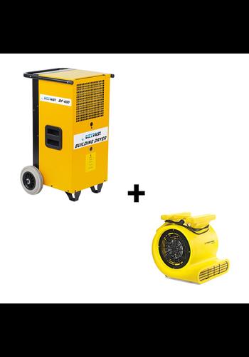 Dryfast Voordeelbundel Dryfast: bouwdroger DF400 + radiaal ventilator TFV30S