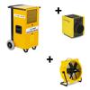 Dryfast Voordeelpakket: bouwdroger DF400F + ventilator TTV4500 + elektrische kachel TEH30T