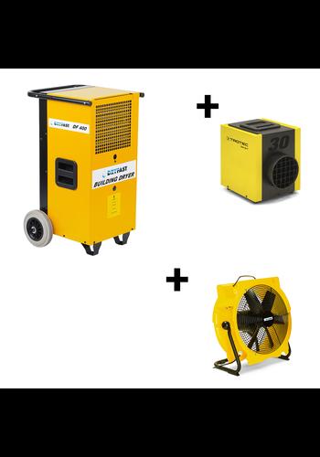 Dryfast Pakket: bouwdroger DF400F + ventilator TTV4500 + elektrische kachel TEH30T