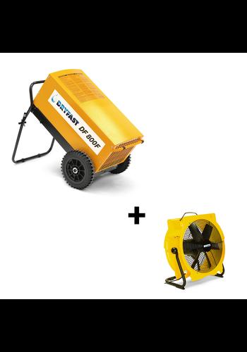 Dryfast Voordeelpakket: bouwdroger DF800F + ventilator TTV4500