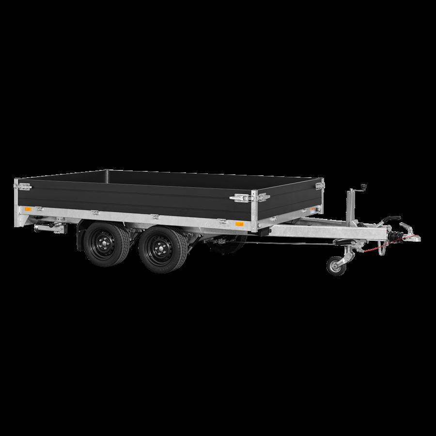 Plate-forme de remorque avec porte échelle et LED - L 3,56 m - 2203 kg de charge utile