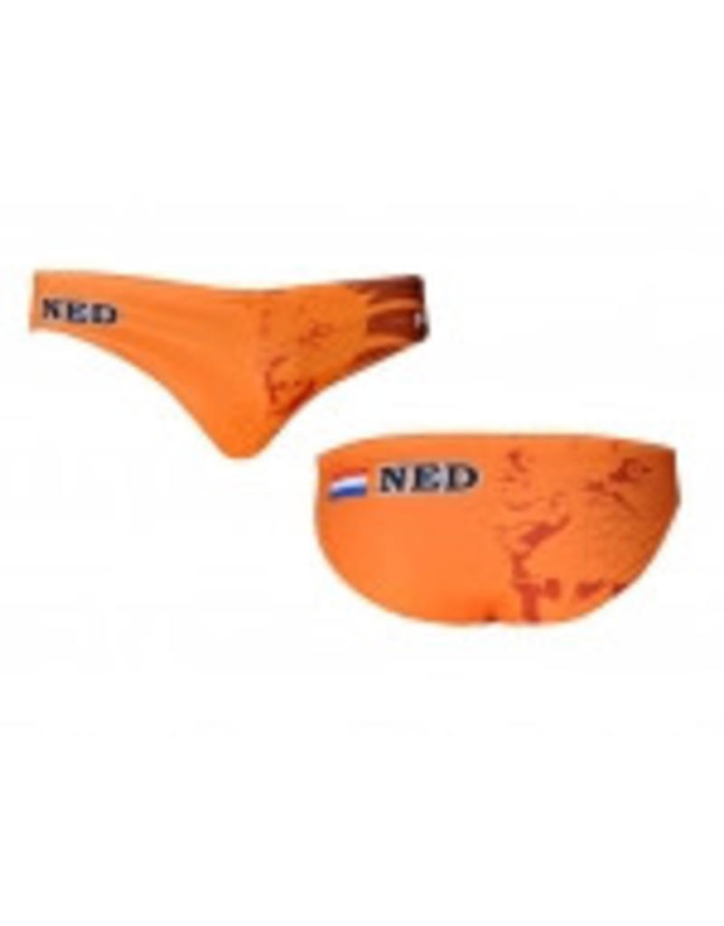 Zwembroek Maat.Waterpolo Zwembroek Oranje Active Swimwear