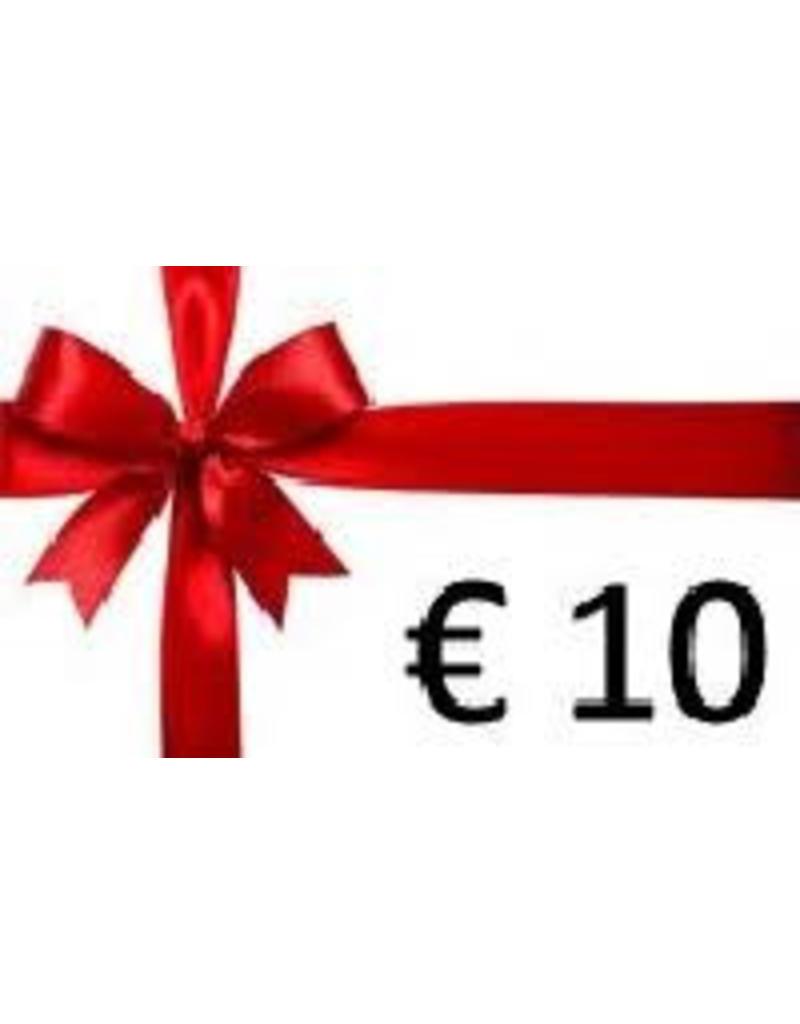 Overige merken Cadeaubon € 10