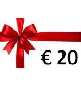 Overige merken Cadeaubon  € 20
