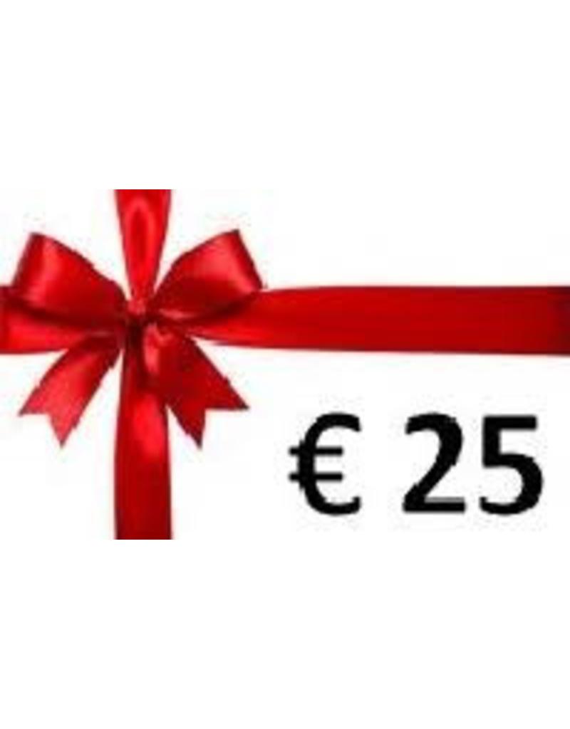 Overige merken Cadeaubon € 25