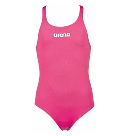 Arena Arena Solid Swim pro Junior badpak Fresia rose- White