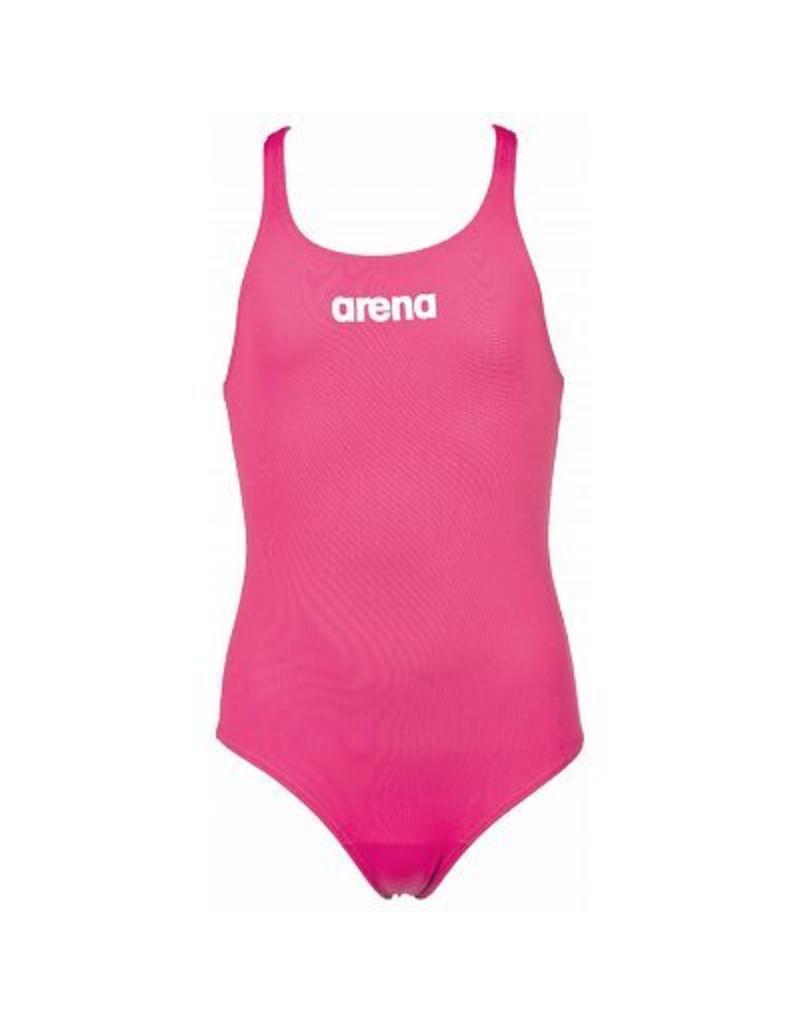 Arena Arena Solid Swim pro Junior badpak Fresia rose- White