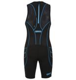 Arena Arena Trisuit ST Rear Zip Mens Black-Turquoise