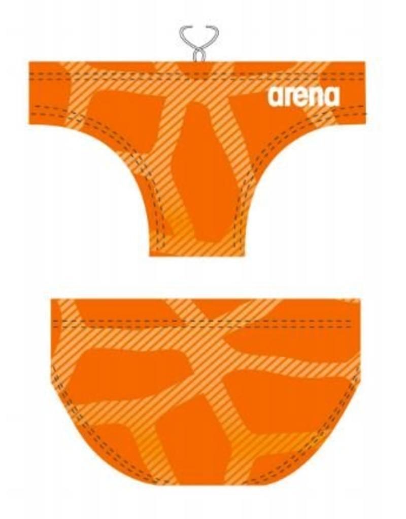 Arena Arena waterpolozwembroek Spider Orange - maat 5 en 6