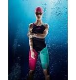 Overige merken Aquafeel Dames I-NOV N2K Open Rug Kneesuit - Navy Blauw / Roze / Groen