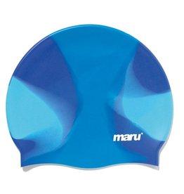 Maru Maru Silicone Swim Cap Blue Shades