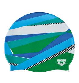 Arena Arena print badmuts blauw-groen