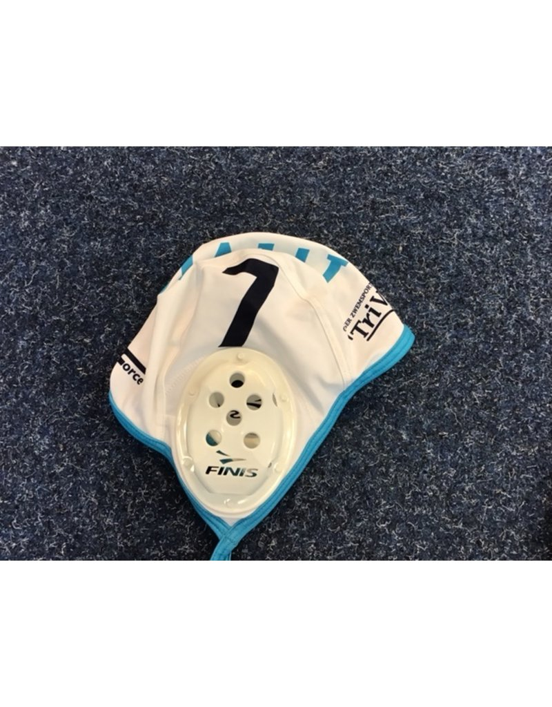 Force TriVia waterpolocap - wit - nummer 7