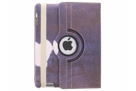 360° Draaibare Design Bookcase voor iPad 2 / 3 / 4 - Koe