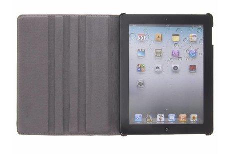 360° Draaibare Design Bookcase voor iPad 2 / 3 / 4 - Waterverf Blauw