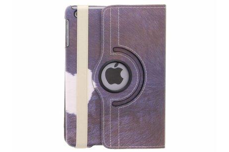 360° Draaibare Design Bookcase voor iPad Mini / 2 / 3 - Koe