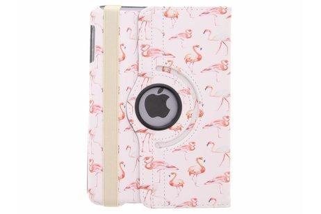 360° Draaibare Design Bookcase voor iPad Mini / 2 / 3 - Flamingo